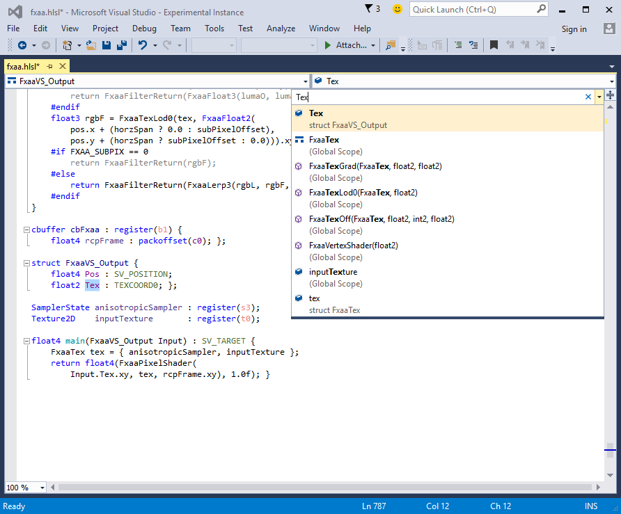 HLSL Tools for Visual Studio screenshot 1