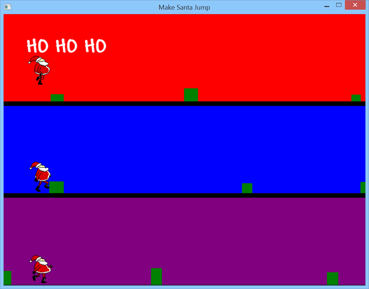 Make Santa Jump - Making an endless runner game in F# using